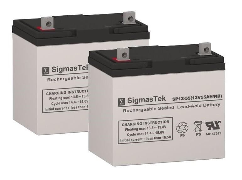 Shoprider 6Runner 14 HD Power Wheelchair Batteries Set of