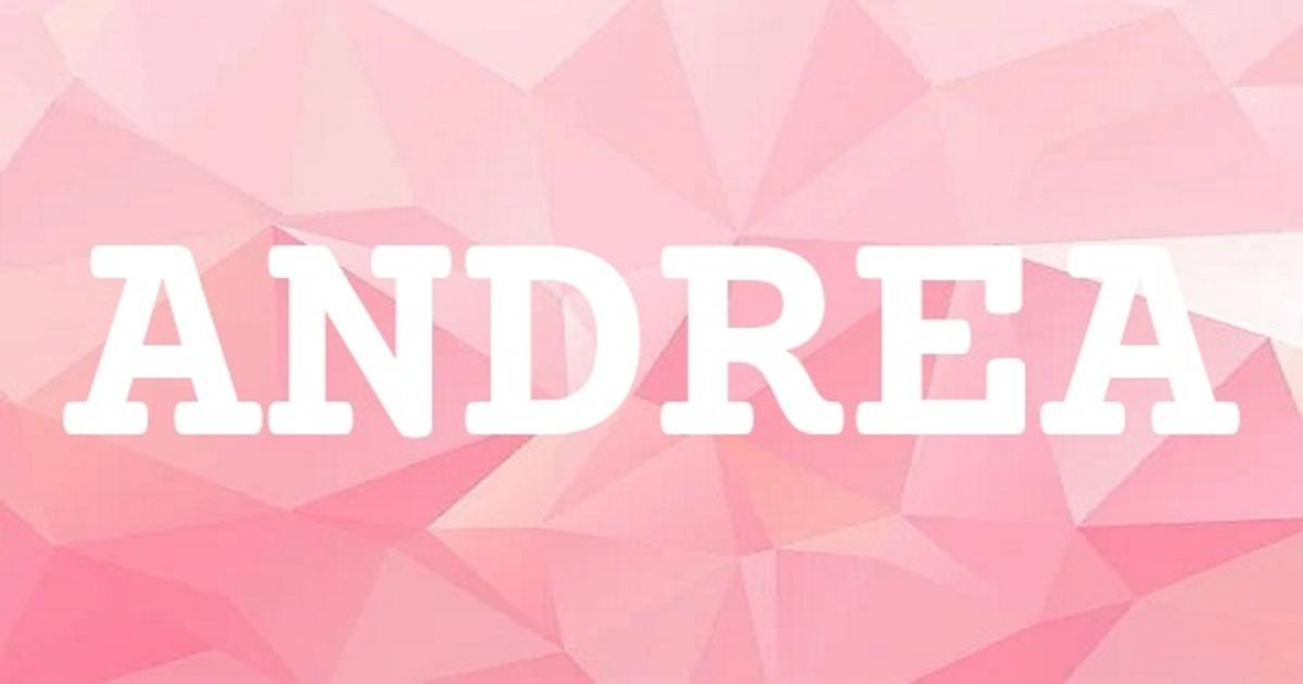ANDREA英文名字意思