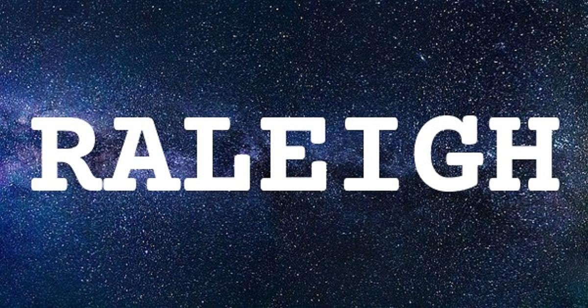 RALEIGH英文名字意思