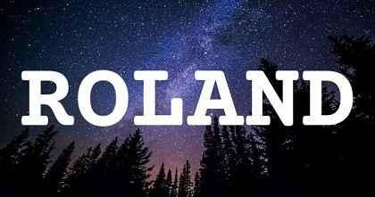 ROLAND英文名字意思