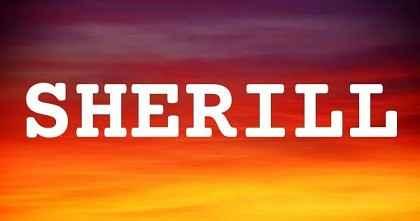 SHERILL英文名字意思