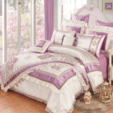 High-quality-silk-slippery-11pcs-bedding-bedspread-linens-embroidered-silk-cotton-fabric-King-Size-duvet-cover.