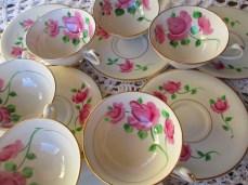 antique kirk Germany tea set