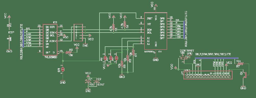 Adafruit I2C/SPI Character LCD Backpack (MCP23008/74LS595