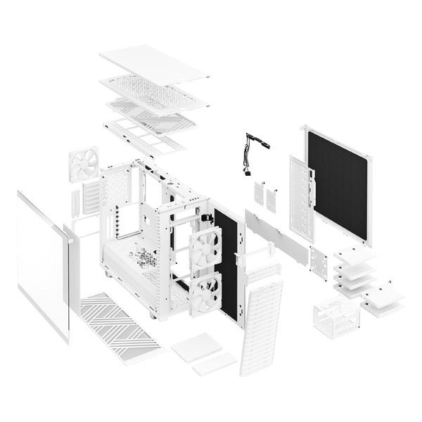 fractal design define 7 clear white 9