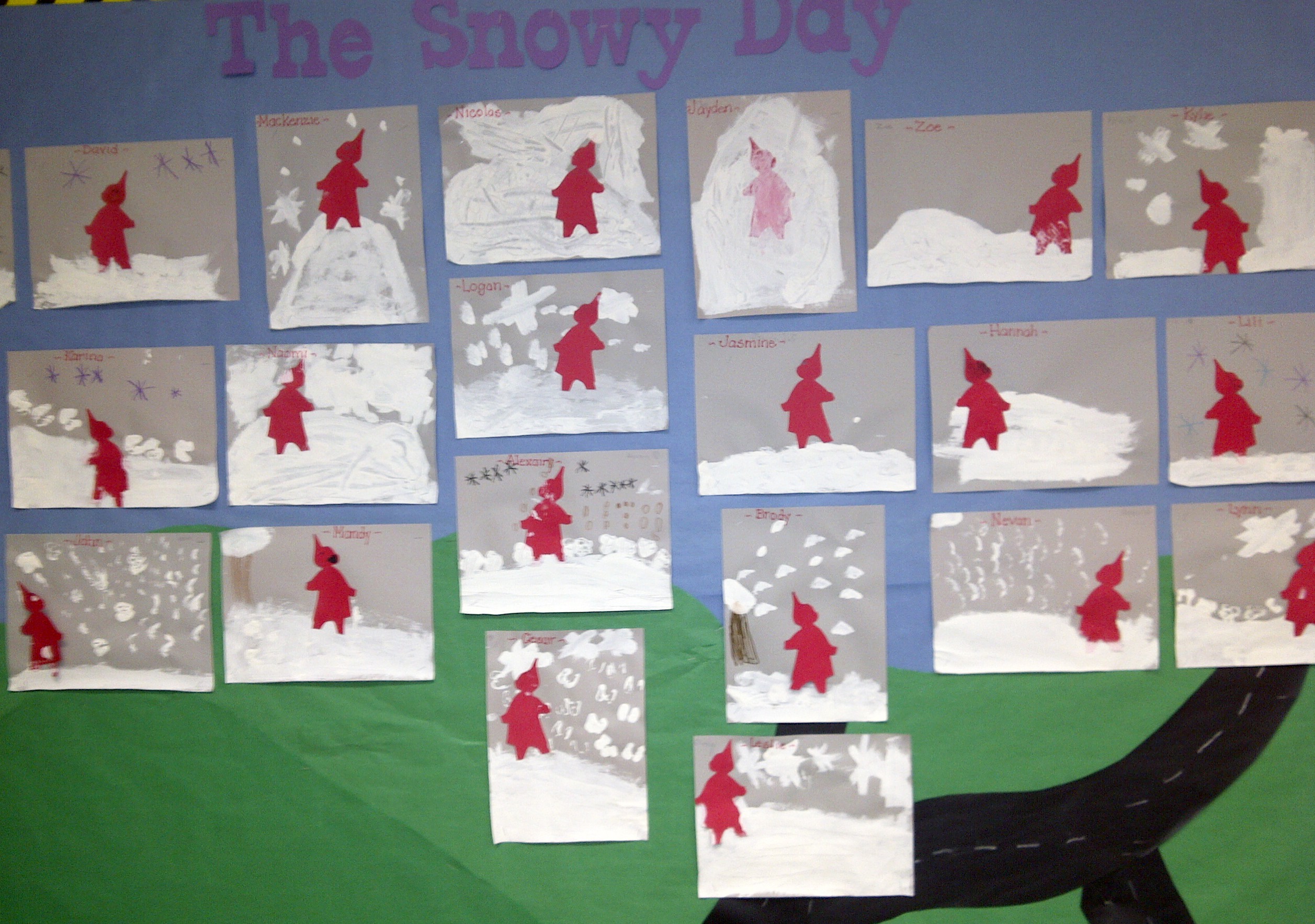 A Snowy Day Coloring Pages And Worksheets For Kindergarten