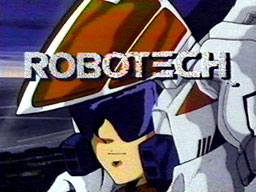Original title screen from the 1985 broadcast of Robotech