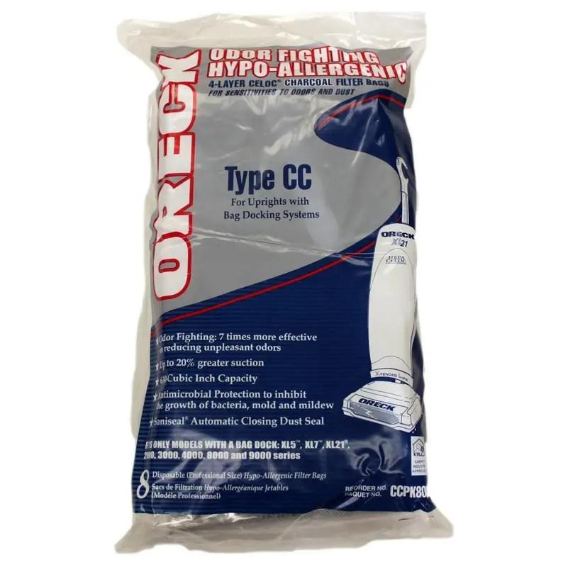 Oreck 7613501 Vacuum Bags  8 Bags  Genuine