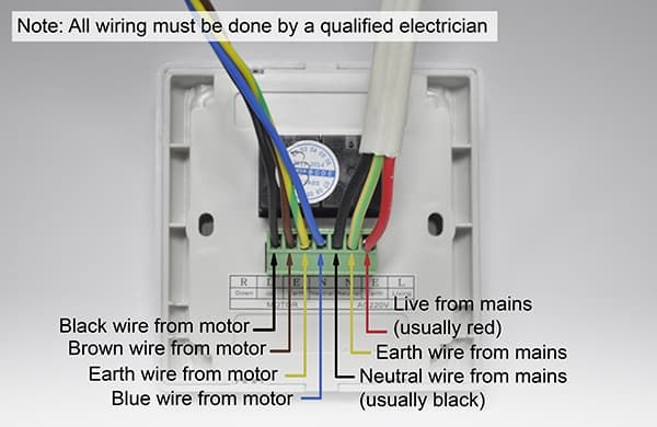 info for electricians to wire up  diy roller shutters