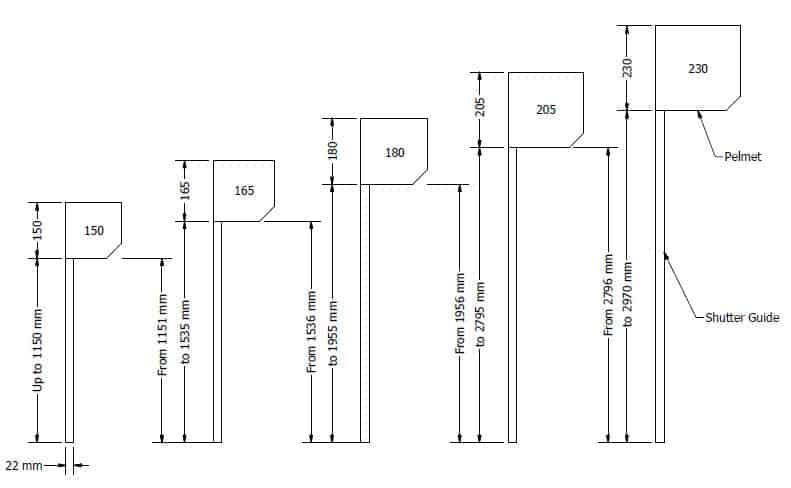 roll up door motor wiring diagram 1993 chevy truck radio roller shutter dimensions & all sizes to fit your shutters