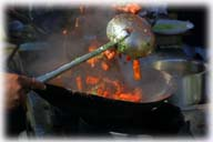 thai food : stirring