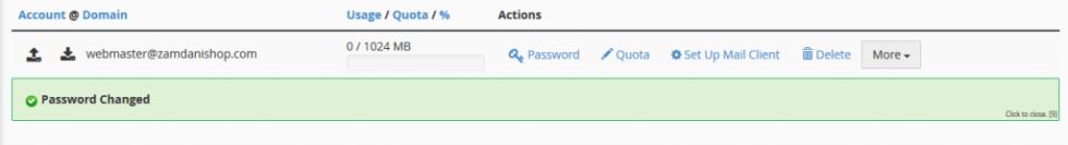Password Changed