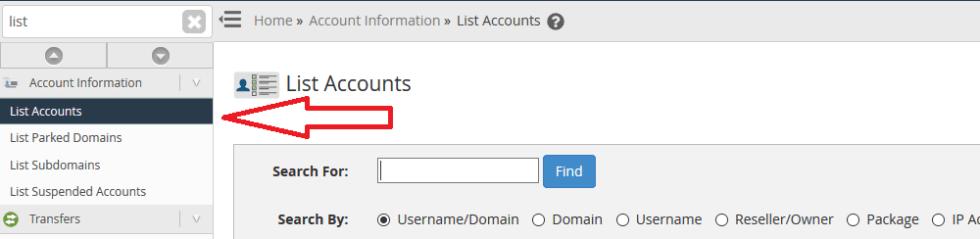choose account