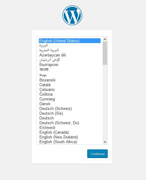 language page