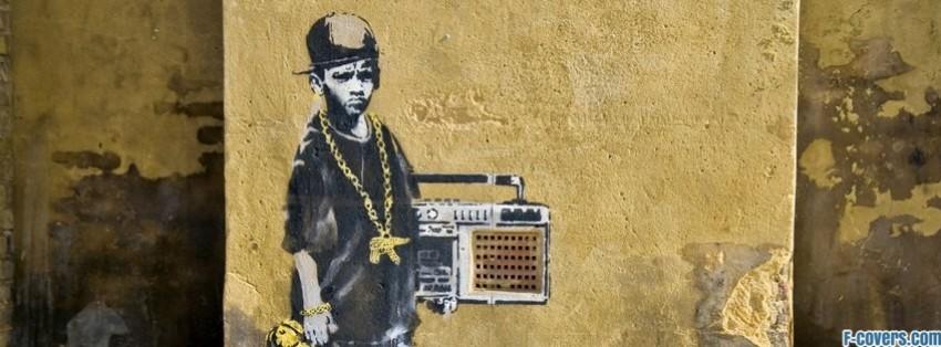 Wallpaper Volley Girl Banksy Street Art Gangsta Kid Facebook Cover Timeline