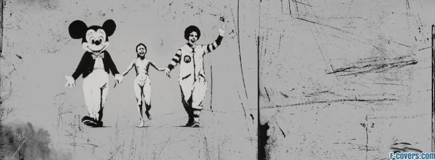 Mudding Soccor Girl Wallpaper Banksy Street Art Mickey Mouse Ronald Mcdonald Facebook