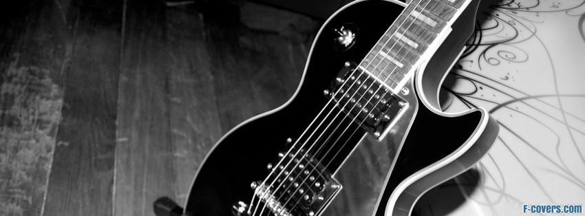 black guitar facebook cover