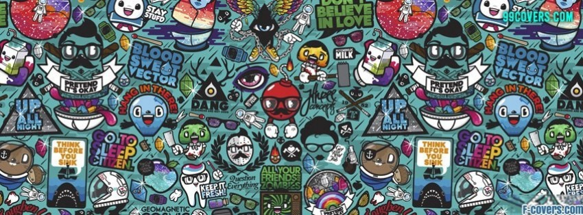 Cute Dog Doodle Wallpaper Collage Toons Facebook Cover Timeline Photo Banner For Fb