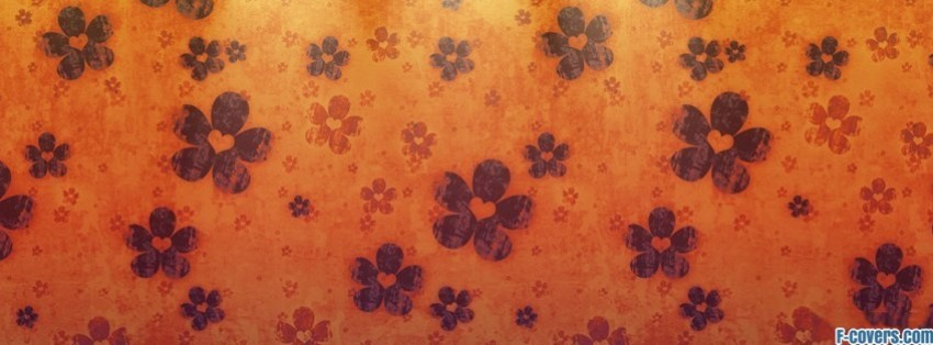 Black Plaid Wallpaper Cute Orange Floral Pattern Facebook Cover Timeline Photo
