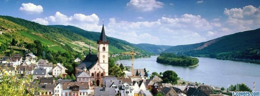 Cute Hipster Desktop Wallpaper Lorch Village Hesse Rhine River Germany Facebook Cover
