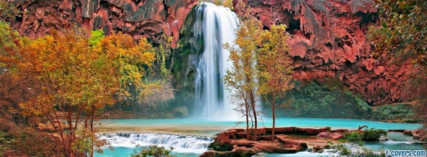 Simple Wallpapers Colors Fall Waterfall Facebook Cover Timeline Photo Banner For Fb