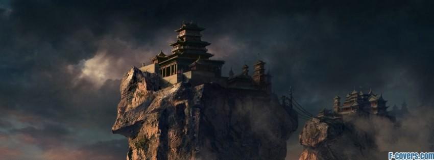 mountains castles fantasy art