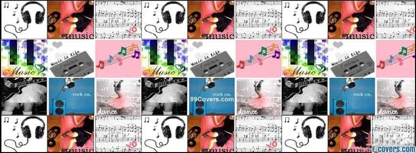 music collage facebook cover