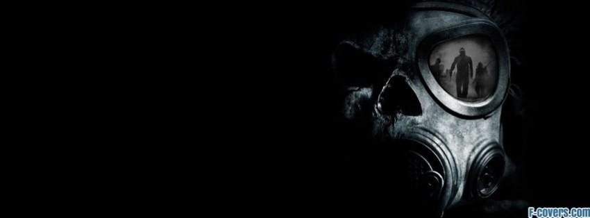 skull gas mask reflection Facebook Cover timeline photo