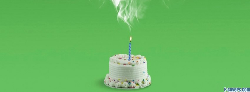 Smoking Birthday Cake Facebook Cover Timeline Photo Banner