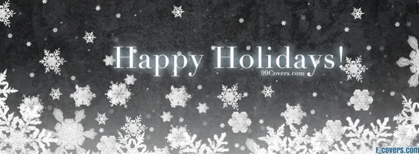 Snowflakes Happy Holidays Facebook Cover Timeline Photo