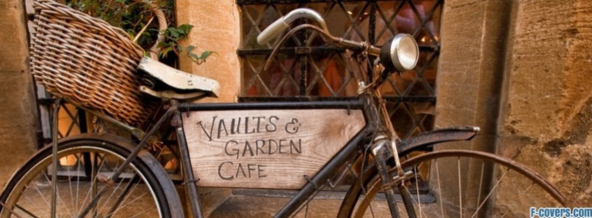Breakfast At Tiffanys Quotes Wallpaper Vintage Bicycle Cafe Sign Facebook Cover Timeline Photo