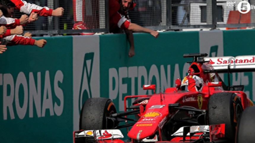 Vettel—Sepang 2015 flag