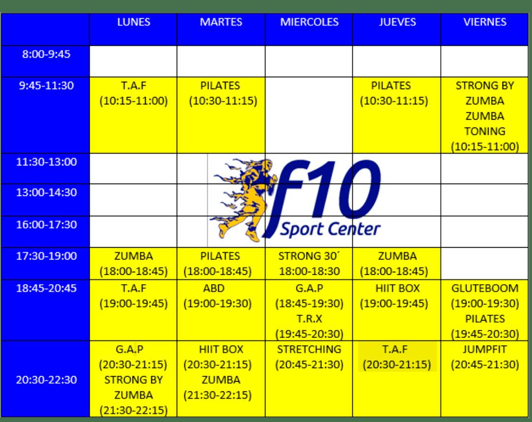 Gimnasio Zamora Clases grupales F10 Sportcenter