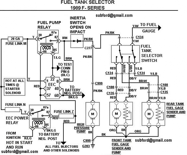 1986 ford f150 fuel pump relay diagram