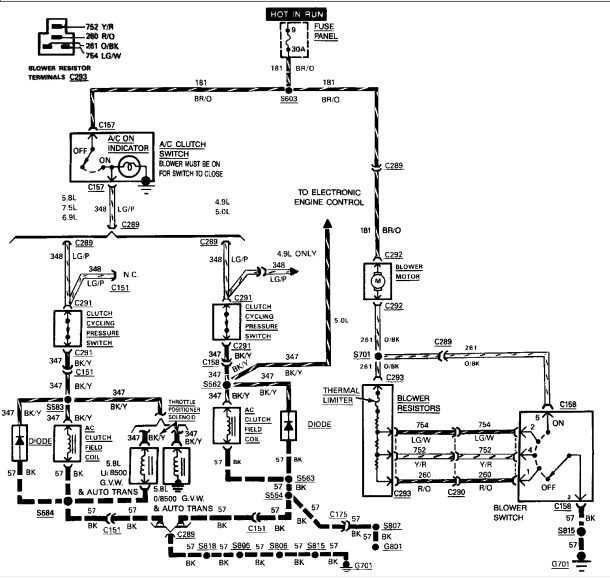 does anyone have a/c wiring diagram  ford f150 forum