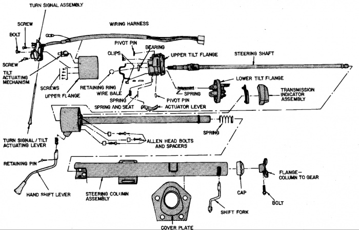 exploded view for the 1997 ford f250 tilt