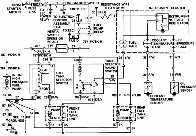 fuel pump wiring diagram 87 ford f150