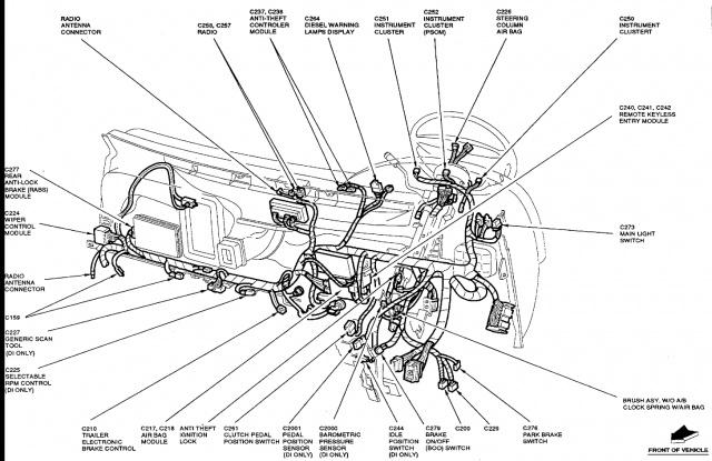 ford f 150 wiper control module location