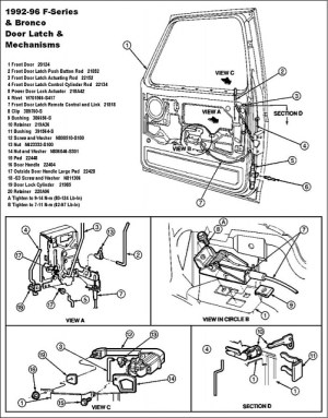 1992 F150 door latch cable broke  Ford F150 Forum