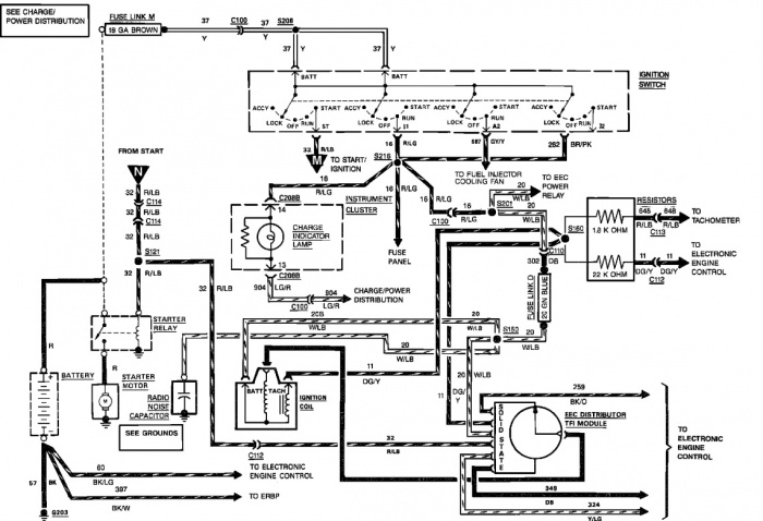 89 f250 wiring diagram start circuit