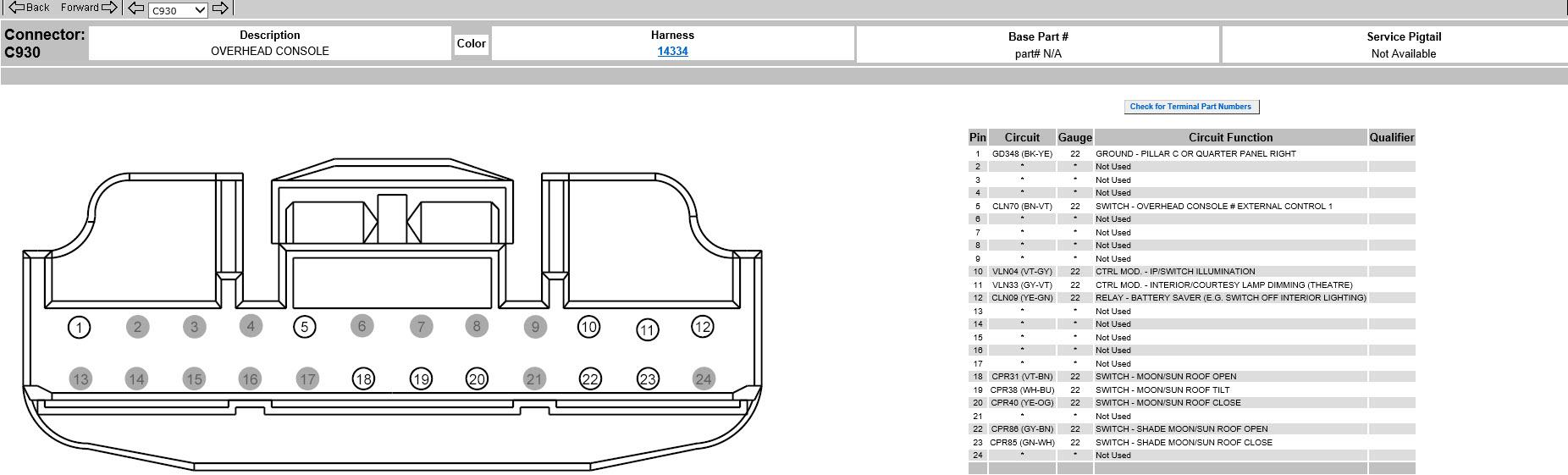 hight resolution of  xlt 302a sun visor upgrade c930 connector jpg