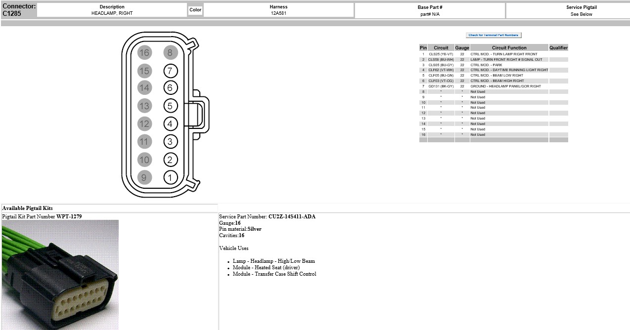 hight resolution of wiring diagram needed ford f150 forum community of ford truck fanswiring diagram needed c1285 headlamp right