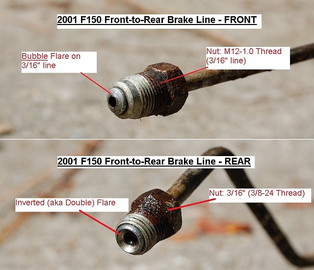 chevy drum brakes diagram 3 way switch dimmer wiring 2001 f150 front-to-rear brake line details - ford forum community of truck fans
