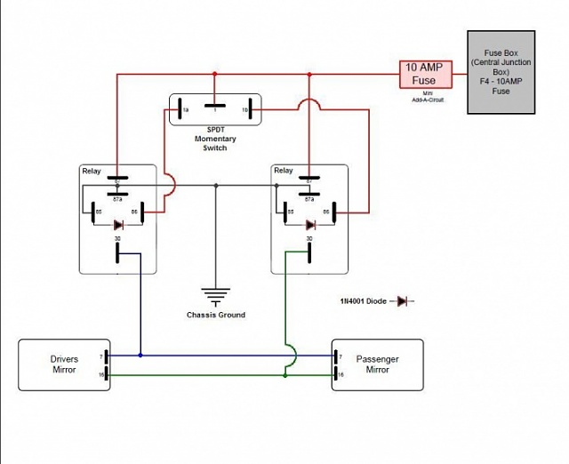 Wiring Diagram For Ford Power Fold Mirrors Ford Power