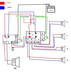 mono amp to sub plus 4 channel amp to speakers wiring diagram alpine 2 channel amp wire diagram [ 1024 x 1024 Pixel ]