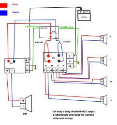 6 channel amp wiring diagram wiring diagram forward wiring diagram amp to speakers [ 1024 x 1024 Pixel ]