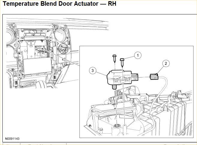2009 Ford F150 Blend Door Actuator Replacement