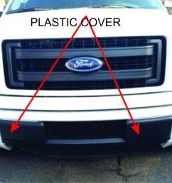 front bumper insert cap f150 plastic caps jpg [ 1262 x 947 Pixel ]