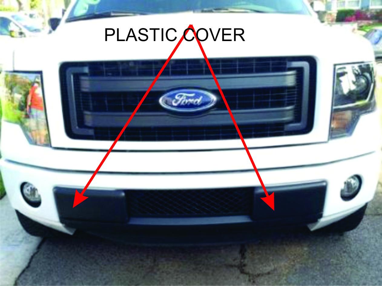 hight resolution of front bumper insert cap f150 plastic caps jpg