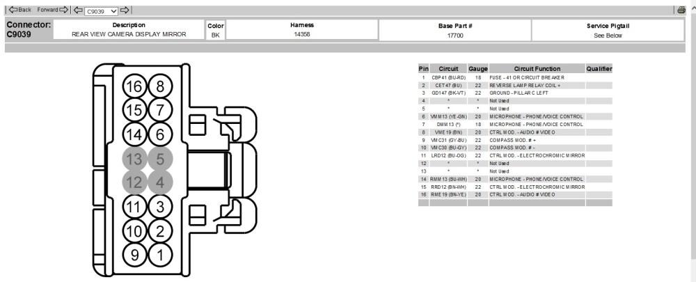 medium resolution of 2010 f150 video cap mirror 16 pin plug 2010 rear view 1 jpg